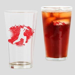 Cricket Paint Splatter Drinking Glass