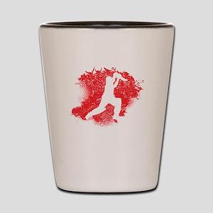 Cricket Paint Splatter Shot Glass