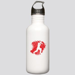 Cricket Paint Splatter Water Bottle