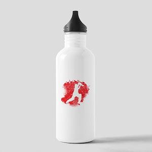 Cricket Paint Splatter Water Bottle