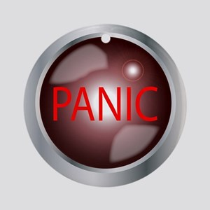 Panic Button Round Ornament