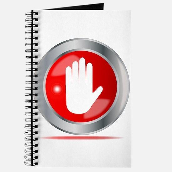 Stop Hand Button Journal