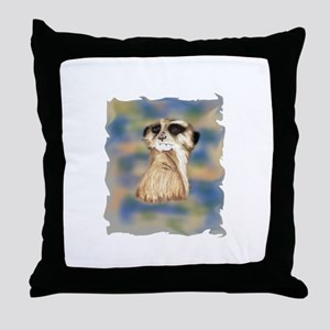 meerkat male Throw Pillow