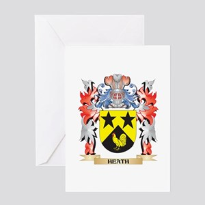 Heath Coat of Arms - Family Crest Greeting Cards