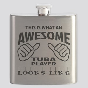 This is what an awesome Tuba player looks li Flask