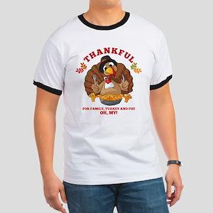 Thankful Family Turkey Pie Ringer T