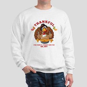 Thankful Family Turkey Pie Sweatshirt