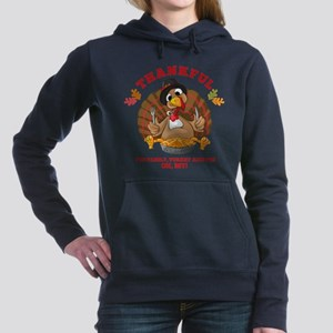 Thankful Family Turkey P Women's Hooded Sweatshirt
