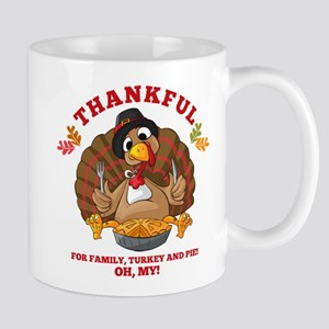 Thankful Family Turkey Pie Mug