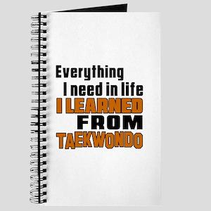 Everything I Learned From Taekwondo Journal
