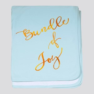 Bundle of Joy Gold Faux Foil Metallic baby blanket