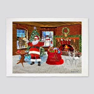 Merry Christmas From Santa 5'x7'Area Rug