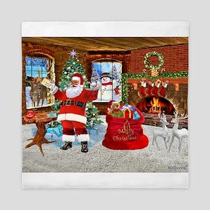 Merry Christmas From Santa Queen Duvet