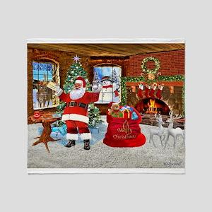 Merry Christmas From Santa Throw Blanket