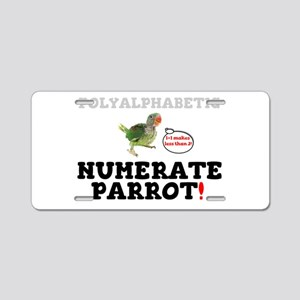 CLEVER PARROT - POLYALPHABE Aluminum License Plate