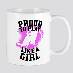 Proud To Play Like A Girl Rugby Mugs