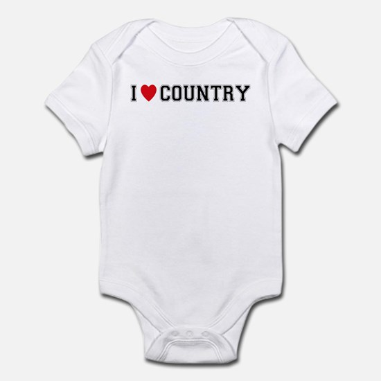 I Love Country Infant Bodysuit