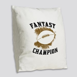 Fantasy Football Champion Burlap Throw Pillow