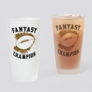 Fantasy Football Champion Drinking Glass