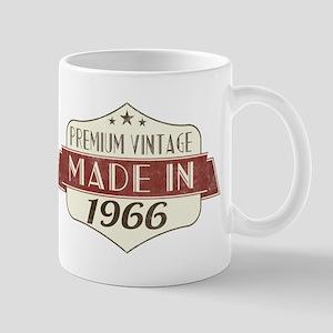 Vintage Born in 1966 50th Birthday Mugs