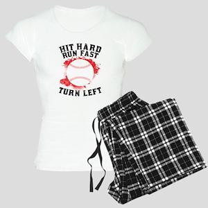 Hit Hard Run Fast Turn Left Pajamas