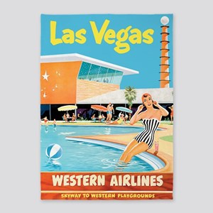 Las Vegas, Travel, Vintage Poster 5'x7'are