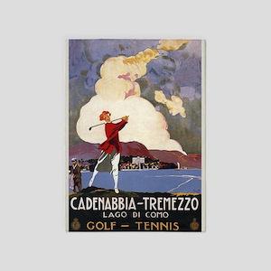 Golf, Tennis, Vintage Poster 5'x7'area Rug