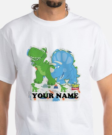 Toy Story Rex Personalizable White T-Shirt