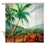 Cuban Landscape Shower Curtain