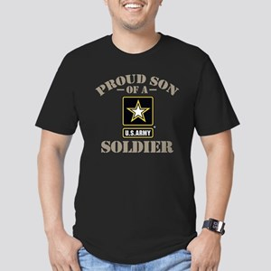 Proud U.S. Army Son Men's Fitted T-Shirt (dark)