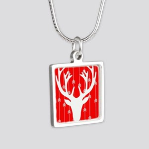 Red and white arrows and deer head Necklaces