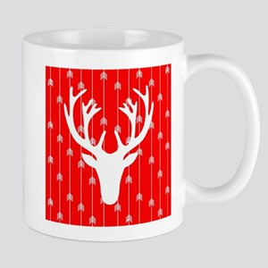 Red and white arrows and deer head Mugs