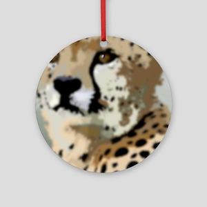 Cheetah Ornament (Round)