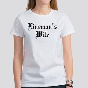 Lineman's Wife Old English Women's T-Shirt