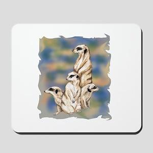 meerkat family Mousepad