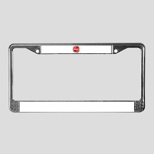 Abort Button License Plate Frame