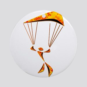 SKYDIVER Round Ornament