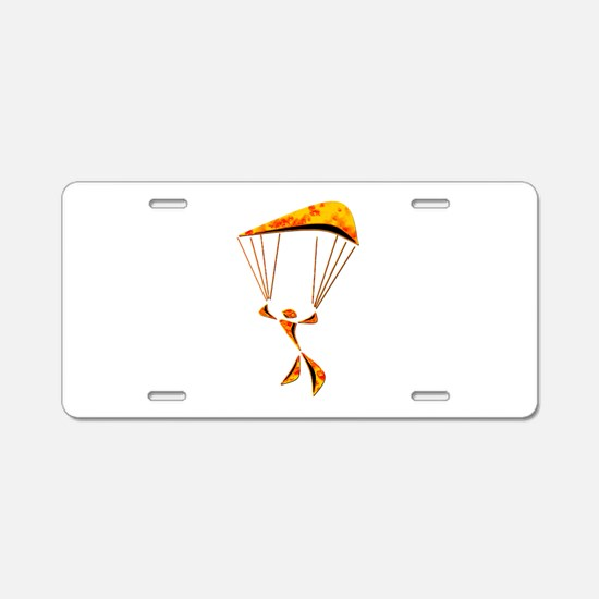 SKYDIVER Aluminum License Plate