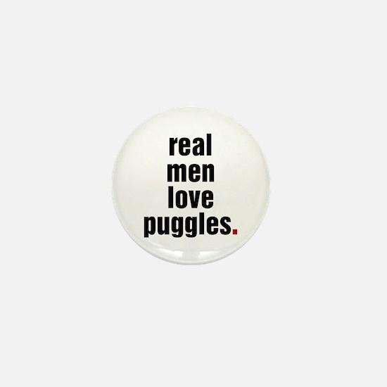 Real Men Love Puggles Mini Button