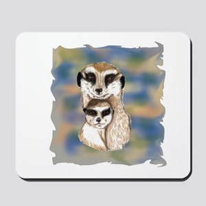 Meerkat mom and babe Mousepad