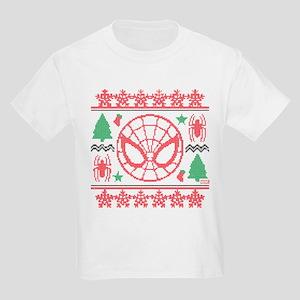 Spider-Man Ugly Christmas Kids Light T-Shirt