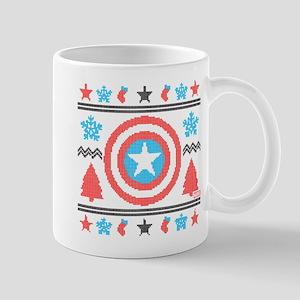 Captain America Ugly Christmas Mug