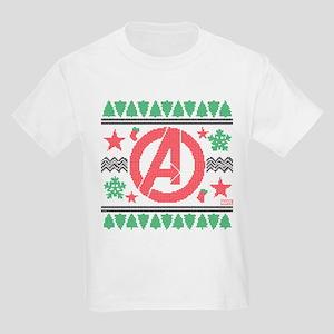Avengers Ugly Christmas Kids Light T-Shirt