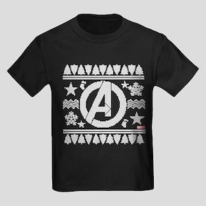 Avengers Ugly Christmas Kids Dark T-Shirt