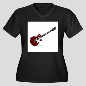 Isolated Rock Guitar Plus Size T-Shirt