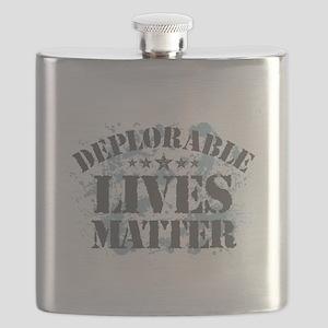 Deplorable Lives Matter Flask