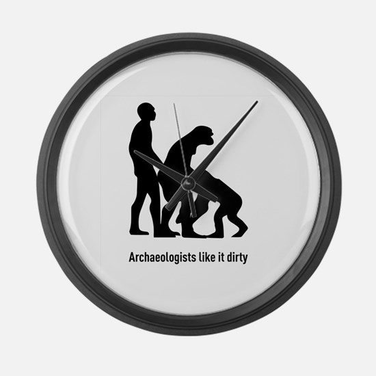 Cute Archaeology Large Wall Clock