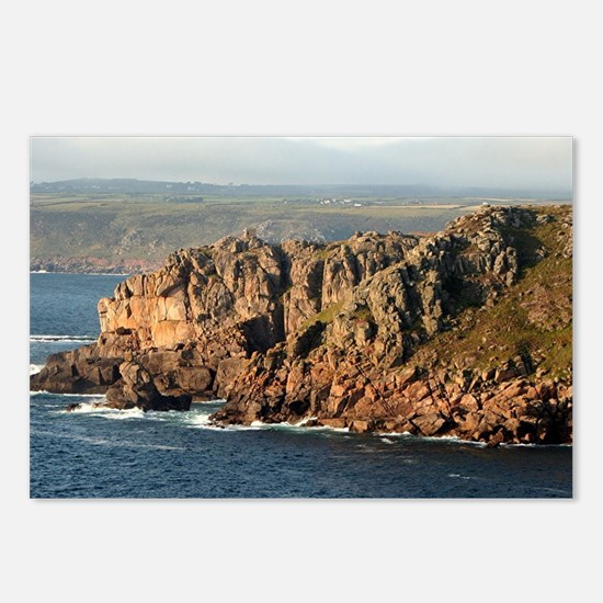 Lands End, Cornwall, Engl Postcards (Package of 8)