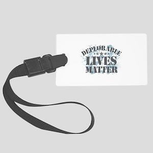 Deplorable Lives Matter Large Luggage Tag