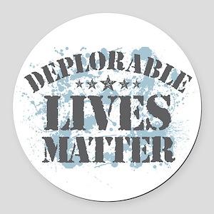 Deplorable Lives Matter Round Car Magnet